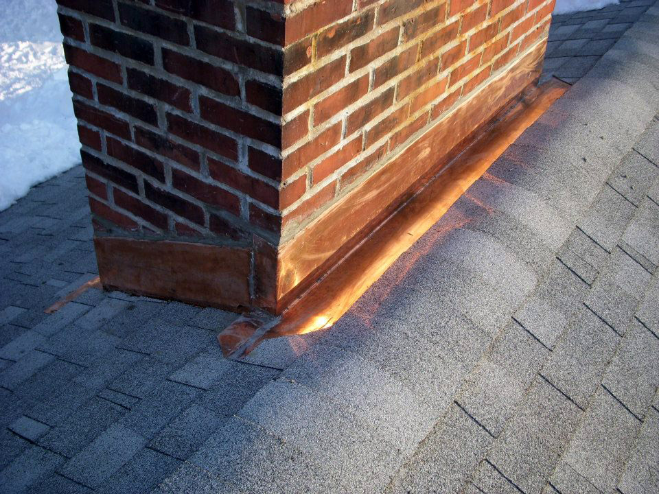 Ri Roofing Contractor Repairs Roof Leaks Due To Chimney Flashing Needing Be Fixed